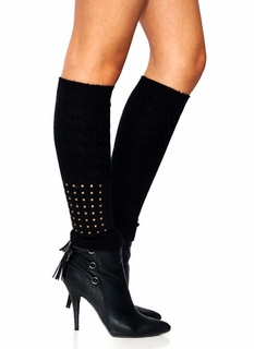 Studded Knit Leg Warmers