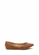 Studying Pyramids Faux Leather Flats