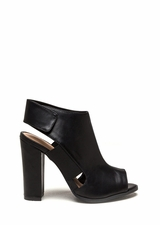 Style Fix Faux Leather Cut-Out Booties