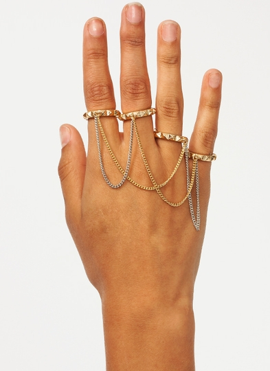 Sup Stud Chain Ring Set