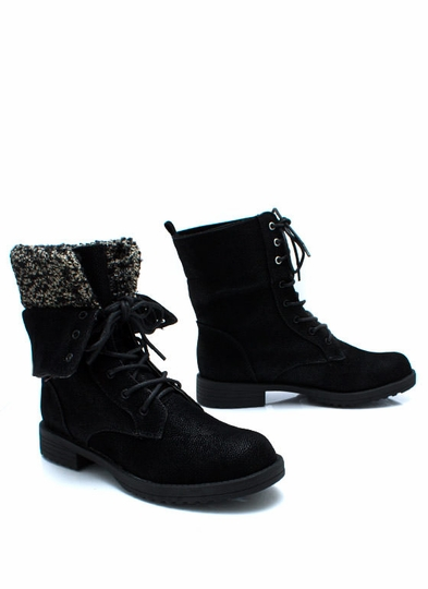 Sweater Weather Foldover Boots