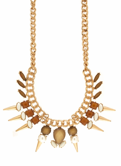 Sweet And Spiky Jewel Necklace Set