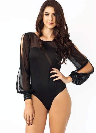 Swirling Slit Bodysuit