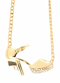Take Aim Heel Necklace Set