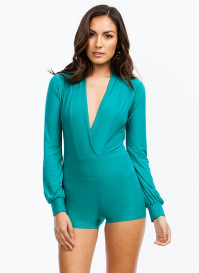 Take The Plunge Shiny Romper