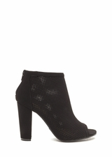 Talk Is Chic Perforated Chunky Booties