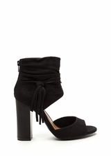 Tassel Takeover Slouchy Faux Suede Heels
