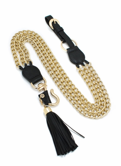 Tasseled Chain Combo Belt