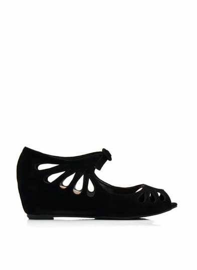Teardrop Cut-Out Low Wedges