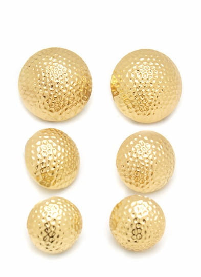Textured Dome Earring Set