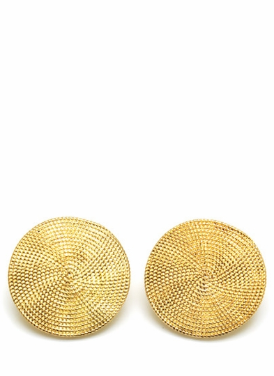 Textured Gong Earrings