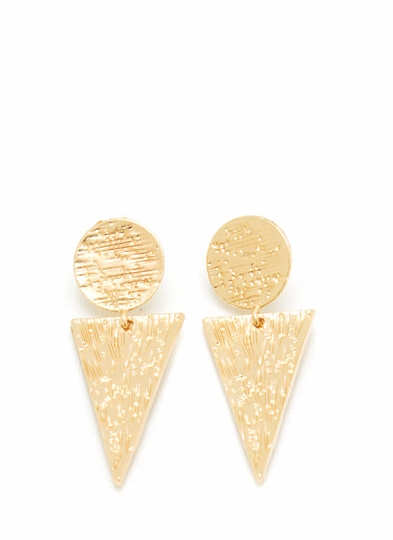 Textured Ice Cream Cone Earrings