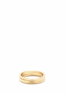 Textured Midi Ring Trio