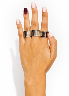 Textured Ring Trio