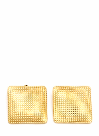 Textured Waffle Earrings