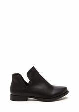 The Down Low Faux Leather Booties