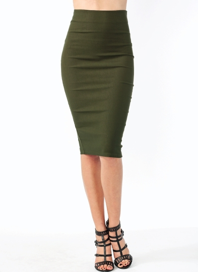 The Perfect Midi Pencil Skirt