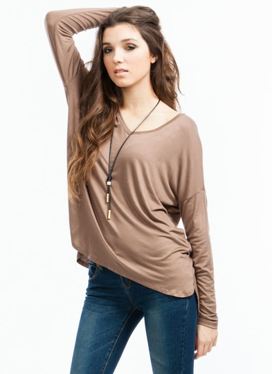 Thumbs Up Oversized V-Neck Tee