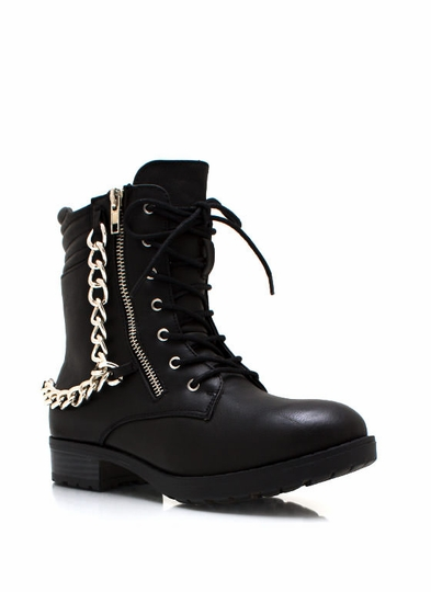 Time For A Chain Lace-Up Boots