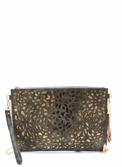 Time To Shine Laser Cut Clutch
