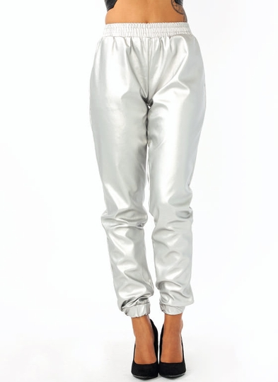 Time To Shine Metallic Joggers