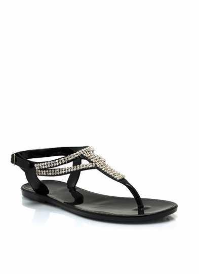 Time To Sparkle Jelly Sandals