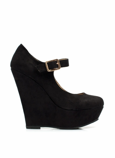 Timeless Mary Jane Wedges