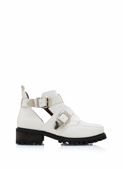 Tipped Off Strappy Cut-Out Boots