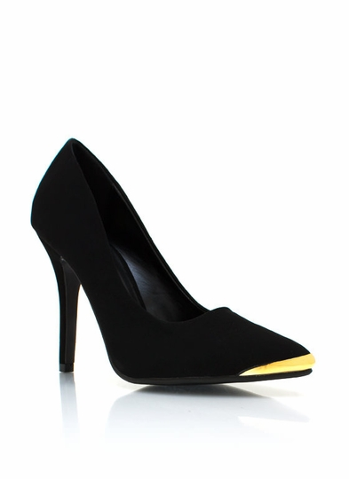 To The Point Faux Nubuck Pumps