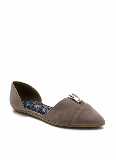 To The Point Zipper Flats