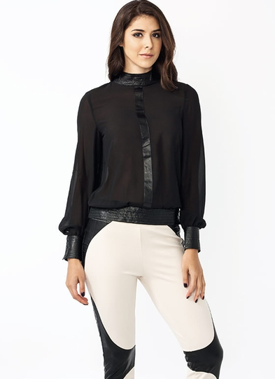 To The T Georgette Blouse