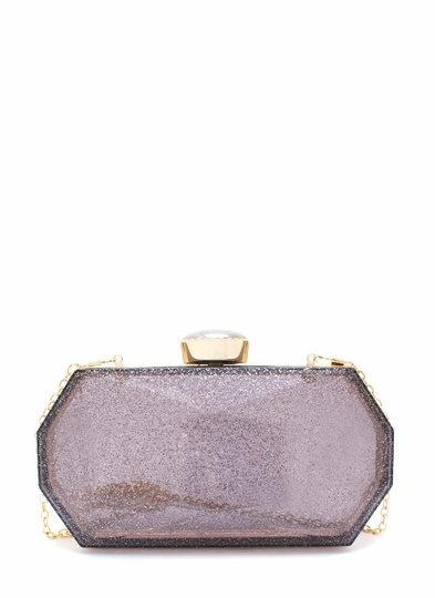 Too Faceted Shimmery Clutch