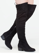 Top Style Laced-Up Over-The-Knee Boots