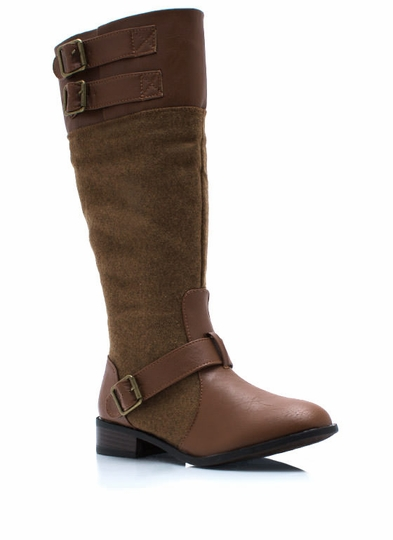 Total Softie Mixed Riding Boots