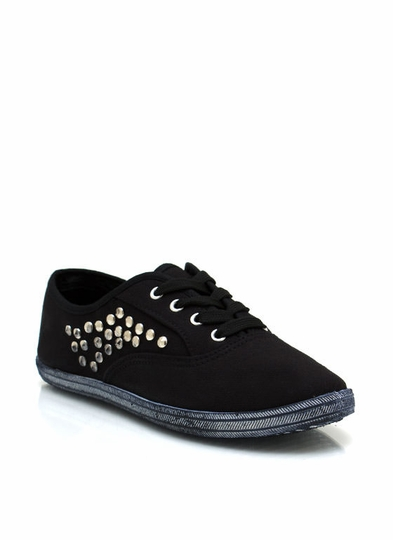 Total Stud Canvas Sneakers
