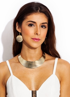 Totally Hammered Collar Necklace Set