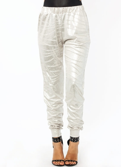 Totally Textured Metallic Joggers