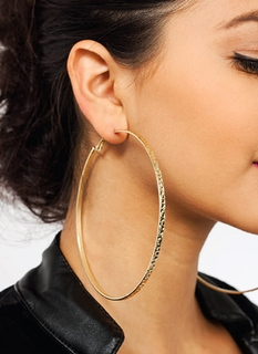 Totally Textured Oversized Earrings