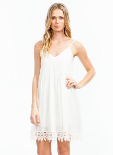 Touch Of Crochet Cami Dress