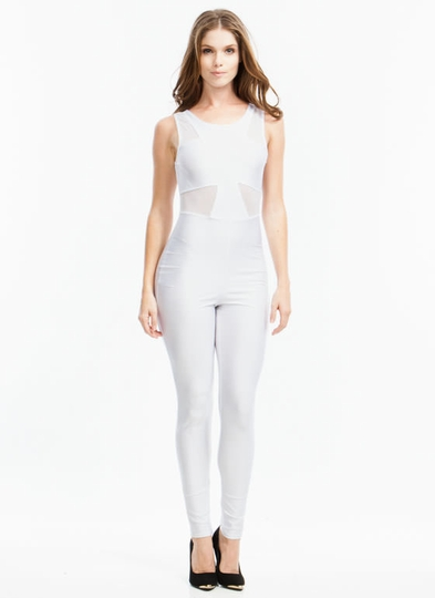 Touch Of Mesh Jumpsuit