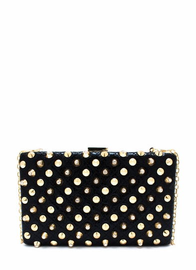 Tough As Diamonds Studded Clutch