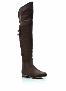 Tri-Buckle Over-The-Knee Boots