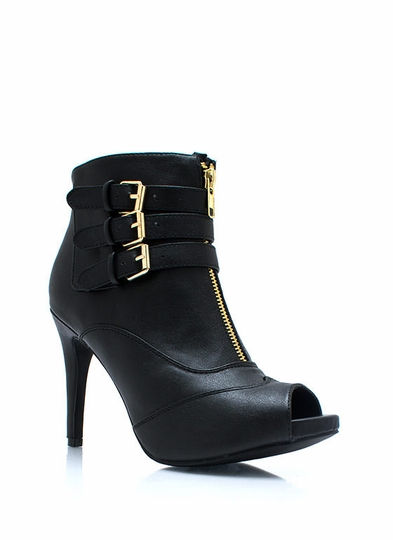 Tri-Buckle Zippy Booties