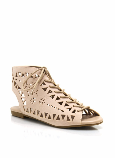 Triangle Cut-Out Sandals