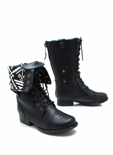 Tribal Magic Lace-Up Boots