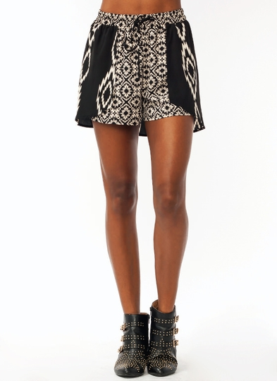 Tribal Print Caped Shorts