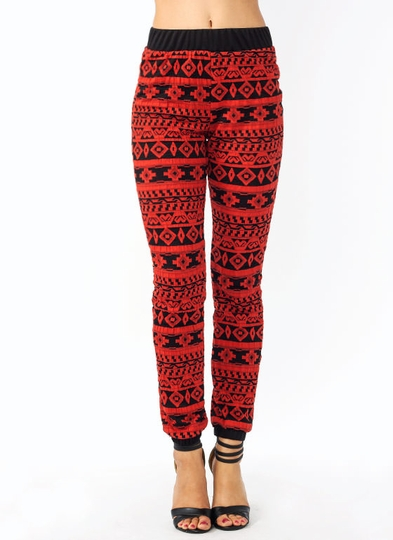 Tribal Study Textured Joggers