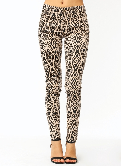 Tribal Time Coated Jeans