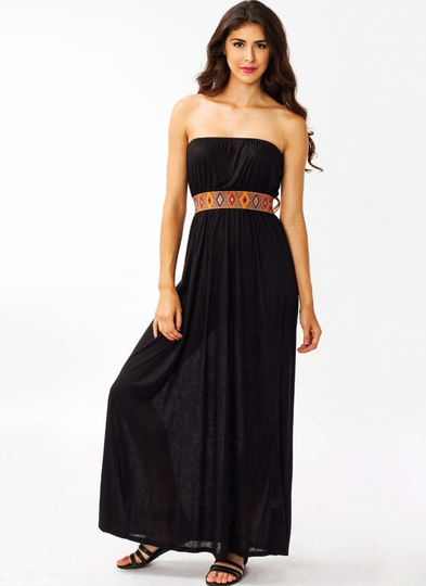 Tribal Waistband Maxi Dress