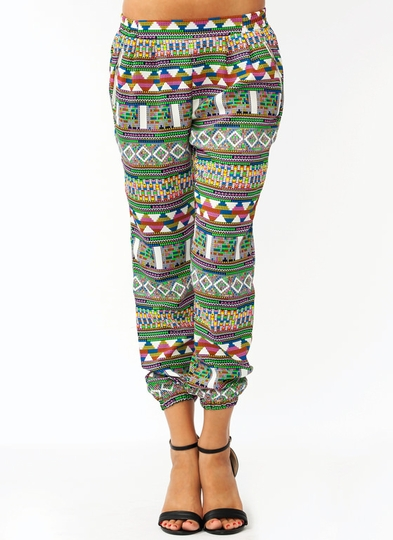 Tribal Zipper Lounge Pants